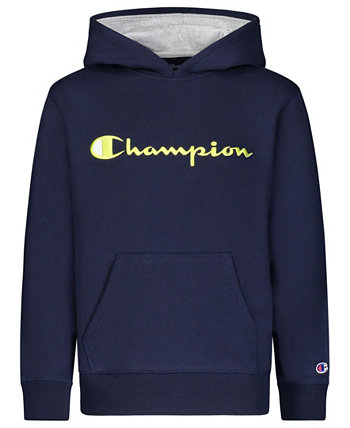 Big Boys Embroidered Signature Hoodie Champion