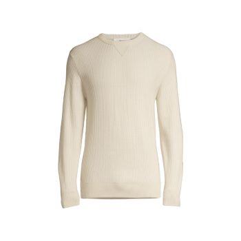 Шерстяной свитер с круглым вырезом Z Zegna
