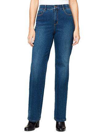 Свободные прямые джинсы Petite с высокой посадкой в шортах Petite & Petite Gloria Vanderbilt