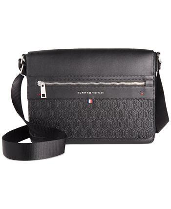 Мужская сумка через плечо с тисненым логотипом Leo Tommy Hilfiger