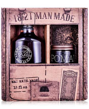 2-Рс. Подарочный набор Wash & Pomade 18.21 Man Made