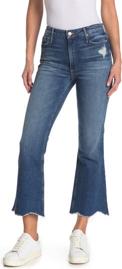 Расклешенные джинсы Chrissy с эффектом потертости и необработанным краем с гребешком Black Orchid