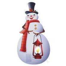 Mr. Christmas Window Decal Snowman Mr Christmas