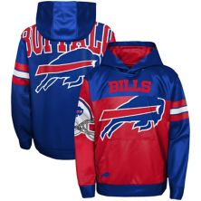 Youth Red/Royal Buffalo Bills First and Goal Pullover Hoodie Outerstuff