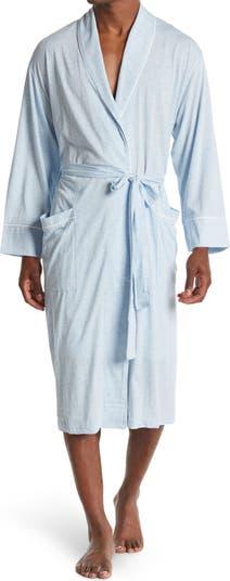 Облегченный халат с вышитым воротником-шалью и накладным карманом Daniel Buchler