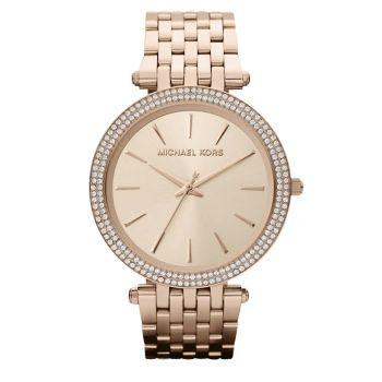 Часы Darci Pavé из нержавеющей стали с браслетом цвета розового золота Michael Kors