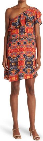 Платье на одно плечо с принтом Collective Concepts