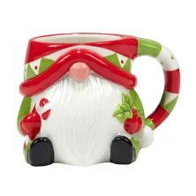 Certified International Holiday Magic Gnomes 4-pc. 3D Mug Set Certified International