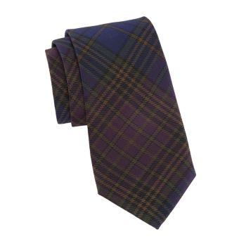 Клетчатый шелковый галстук Ralph Lauren Purple Label