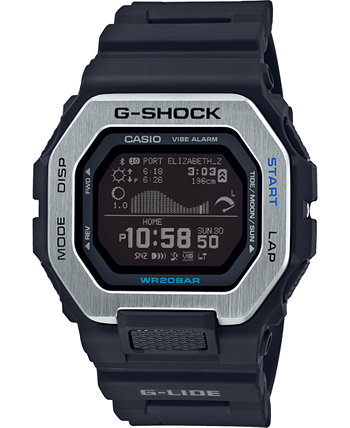 Мужские часы Connected Digital G-Lide с черным полимерным ремешком, 46 мм G-Shock