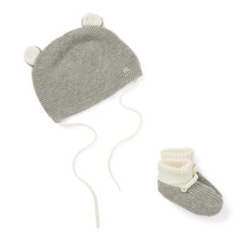 Хлопковая шапка и пинетки Ralph Lauren