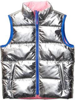 Reversible Puffer Vest (Little Kids/Big Kids) Spotted Zebra