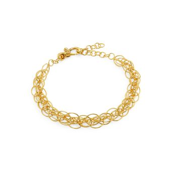 Браслет из желтого золота 22 карат с геометрическим рисунком Gurhan