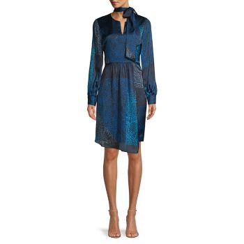 Платье в стиле пэчворк с леопардовым принтом Alara Elie Tahari