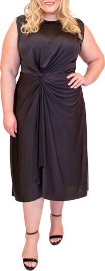Платье миди с короткими рукавами и узлом Jude COLDESINA