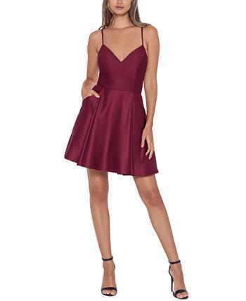 Юниорское платье с V-образным вырезом и расклешенной юбкой Blondie Nites
