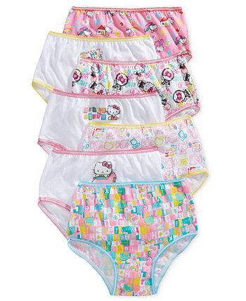 Хлопчатобумажные трусики Hello Kitty, 7 шт., Девочки для малышей Disney