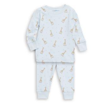 Baby Boy's & amp; Хлопковая пижама с принтом Sophie La Girafe для мальчиков Kissy Kissy