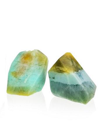Glow Gems Набор из 2 натуральных мыл ручной работы - ваниль и лимон SWAY
