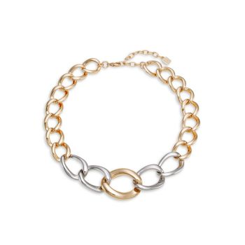 Mullholand Two-Tone Curb-Chain Necklace DANNIJO