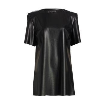 Laveta Vegan Leather Dress LAMARQUE