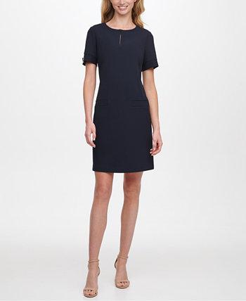 Платье прямого кроя с каплевидным вырезом Tommy Hilfiger