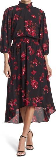Платье миди с объемными рукавами и пышными рукавами Stevie с цветочным принтом Nanette nanette lepore
