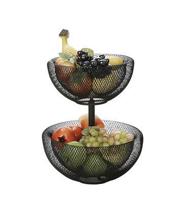 2-х уровневая сетчатая ваза для фруктов Mind Reader