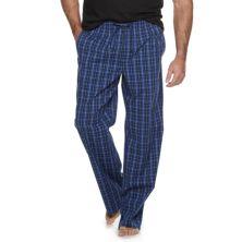 Big & Tall Croft & Barrow® Plaid Stretch Woven Pajama Pants Croft & Barrow