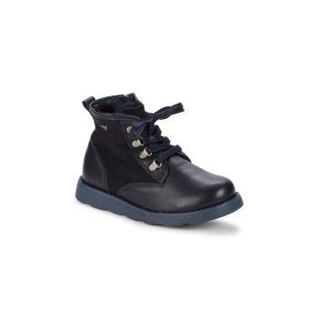 Детские ботинки из искусственной овчины и кожи Armani Junior
