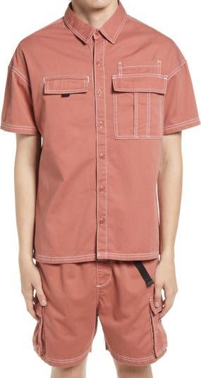 Рубашка на пуговицах из мытого хлопка NATIVE YOUTH
