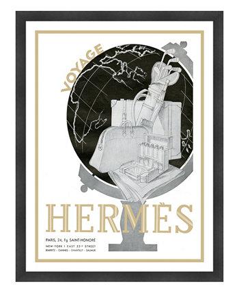 """Картины из жикле в рамке Hermes Paris Voyage - 33 """"x 43"""" x 2 """" Melissa Van Hise"""