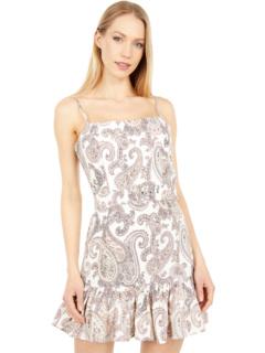 Льняное платье с пейсли Bardot