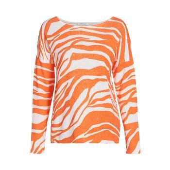 Свитер с пайетками Zebra Joan Vass