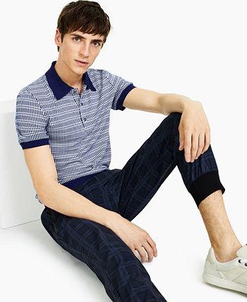 Мужская рубашка-поло в ретро-полоску Paisley & Gray