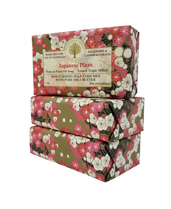 Японское сливовое мыло с пакетом из 3, каждый 7 унций Wavertree & London