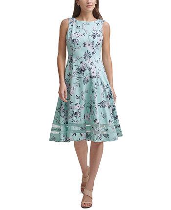 Petite Floral Midi Dress Calvin Klein