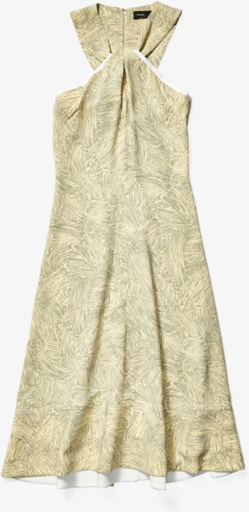 Платье из кади с принтом и завязками на спине Proenza Schouler