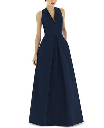 Плиссированное платье A-Line Alfred Sung