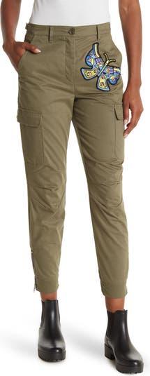 Укороченные брюки-карго с нашивкой-бабочкой Jeremy Scott