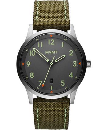 Мужские полевые часы из оливкового нейлона 41мм MVMT