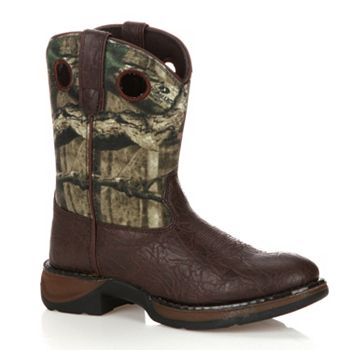 Lil Durango Boys' 8-in. Mossy Oak Break-Up Western Boots Durango