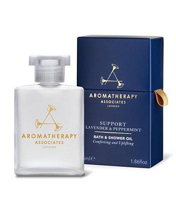 Поддержите масло для ванн и душа для тела с лавандой и мятой, 55 мл Aromatherapy Associates