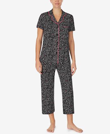 Укороченные брюки с принтом, пижамный комплект Cuddl Duds