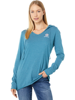 Daisy Crusher-Lite™ Long Sleeve Striped Hooded Tee Life is Good