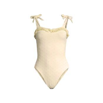 Сплошной купальник с завязками на плечах WeWoreWhat