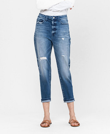 Women's Cuffed Stretch Mom Jeans FLYING MONKEY