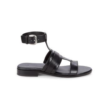 Кожаные сандалии Elva с ремешком на щиколотке 27 EDIT