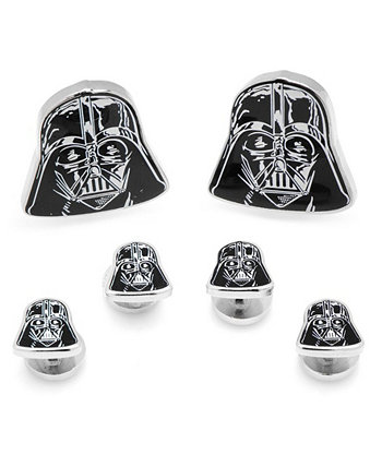 Мужские запонки и заклепки с головой Дарта Вейдера Star Wars