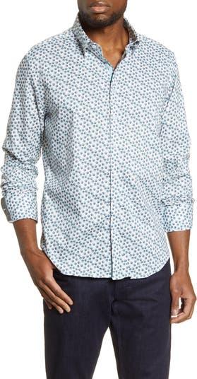 Рубашка на пуговицах с принтом листьев Stone Rose